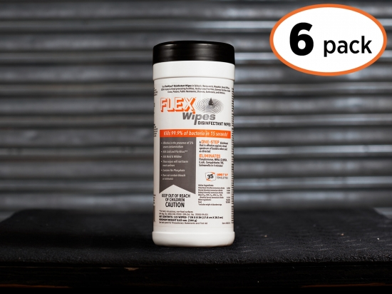 FLEXWIPES 35 Count Canister - 6 pack